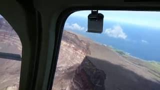 三宅島 ヘリコプターで噴火口へ。