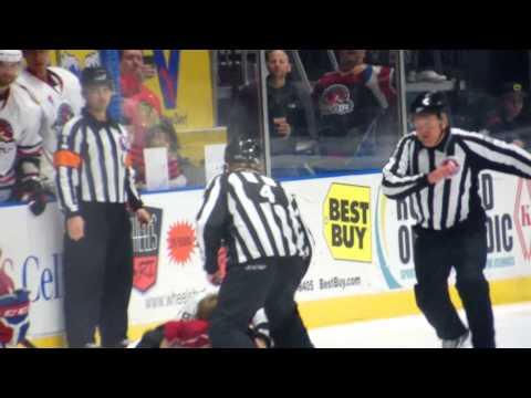 Cody Bass vs Jack Nevins (Rockford IceHogs vs Hamilton Bulldogs) 12-30-14