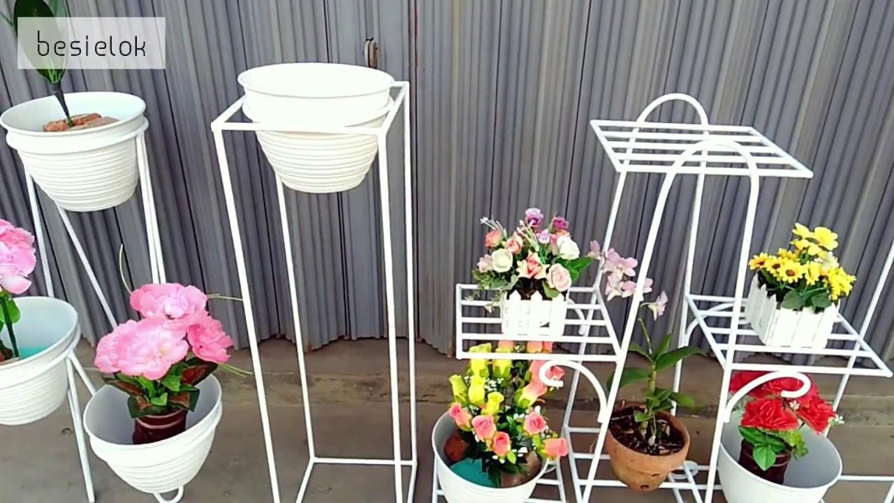 Rak Pot Bunga Cantik Dari Besi Untuk Model Rumah Minimalis Dan Modern Youtube