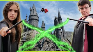 WE MADE IT TO HOGWARTS!! - Harry Potter World Takeover