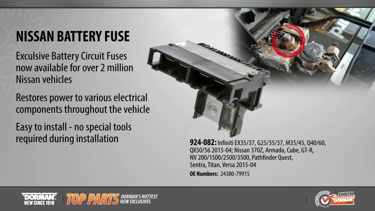 nissan battery fuse by dorman products [ 1280 x 720 Pixel ]