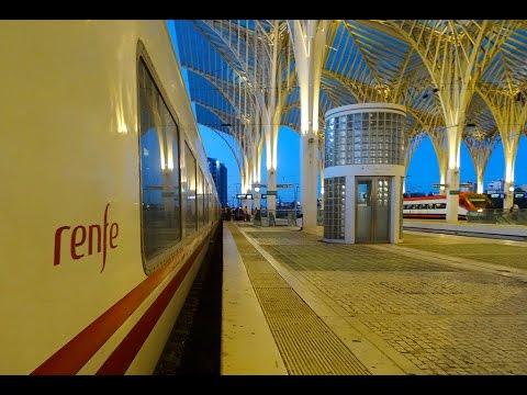A bordo do comboio trenhotel TALGO Sud Expresso/Lusitânia em Portugal