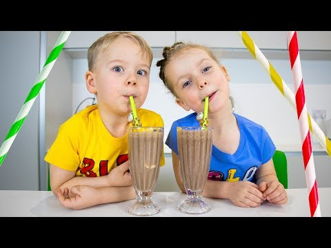 Ice Cream Milkshake challenge with Gaby and Alex