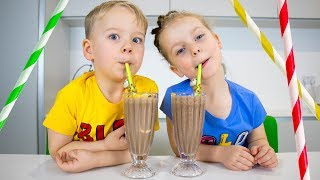 Ice Cream Smoothie - Ice Cream Milkshake challenge with Gaby and Alex