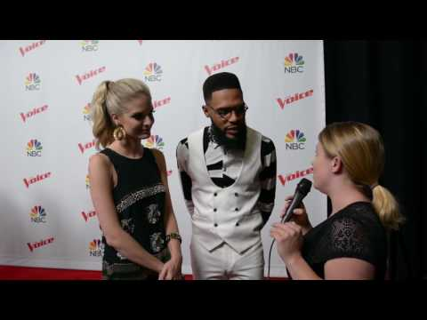 Team Blake Interview - TSoul and Lauren Duski at The Voice