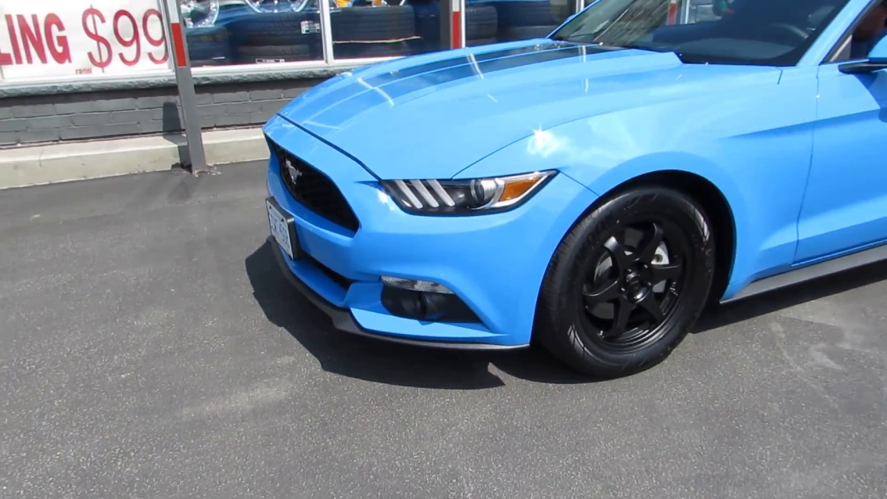 Ford Mustang With  Inch Custom Black Rims Tires