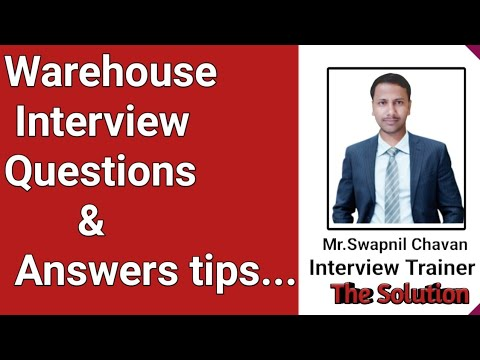 Warehouse management interview questions and answers