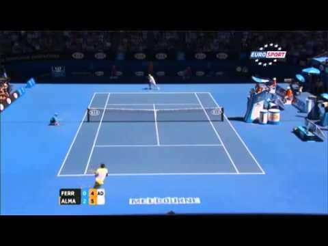David Ferrer vs Nicolas Almagro Quarterfinals Highlights Australian Open 2013