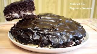 Очень Простой Шоколадный Торт на Раз Два Три Домашний ТОРТ не нуждается в пропитке