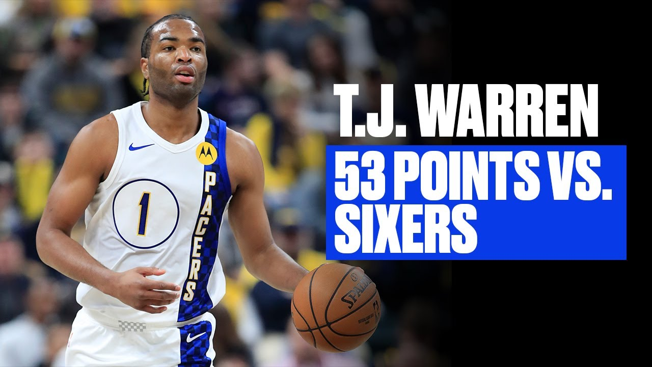 T.J. Warren scores career-high 53 in Pacers' win over Sixers