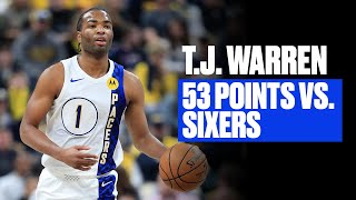 <b>TJ Warren</b> Was Lights Out vs. Philly | Career-High 53 Points
