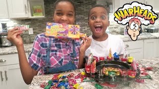 Roulette Candy Challenge w/ Extreme Sour Warheads Candy - Shasha and Shiloh - Onyx Kids