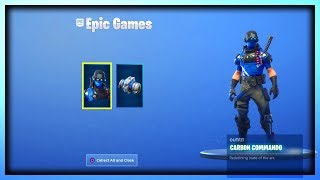 The NEW FREE PS PLUS CELEBRATION PACK #5 GAMEPLAY IN FORTNITE (New Carbon Commando Bundle Gameplay)