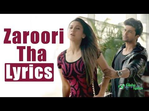 Zaroori Tha   HD   Lyrics   Rahat Fateh Ali Khan   Globe Lyrics   GL