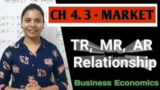 Chapter 4.3 - MARKET - Total Revenue, Marginal Revenue, Average Revenue - Perfect & Imperfect Market
