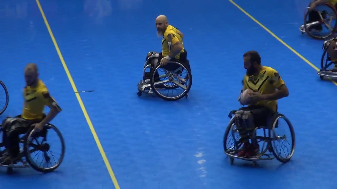 2017 wheelchair rugby league world cup semi finals england 78 v