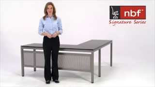 Modern L-desk | Nbf At Work Collection | National Business Furniture
