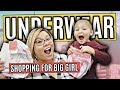 SHOPPING FOR BIG GIRL UNDERWEAR! FAMILY VLOGGERS WITH KIDS