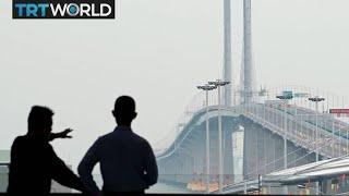 China Bridge: World's longest sea bridge connects cities