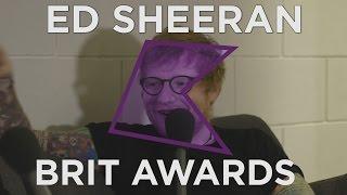 Ed Sheeran Backstage Interview   BRIT Awards 2017   KISS FM UK