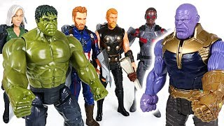 Thanos appeared! Go! Marvel Avengers Infinity War Titan Hero Hulk, Thor, Captain! - DuDuPopTOY