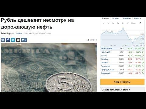 Прогноз по Доллару на апрель 2019. Рубль дешевеет? Прогноз по Рублю и Нефти