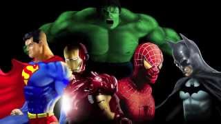 (Digital Speed Painting) Superman, Ironman, Spiderman, Batman, and The Incredible Hulk