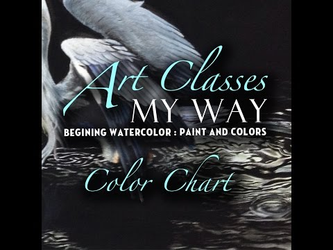 Beginner Watercolor Painting: Making a Color Chart