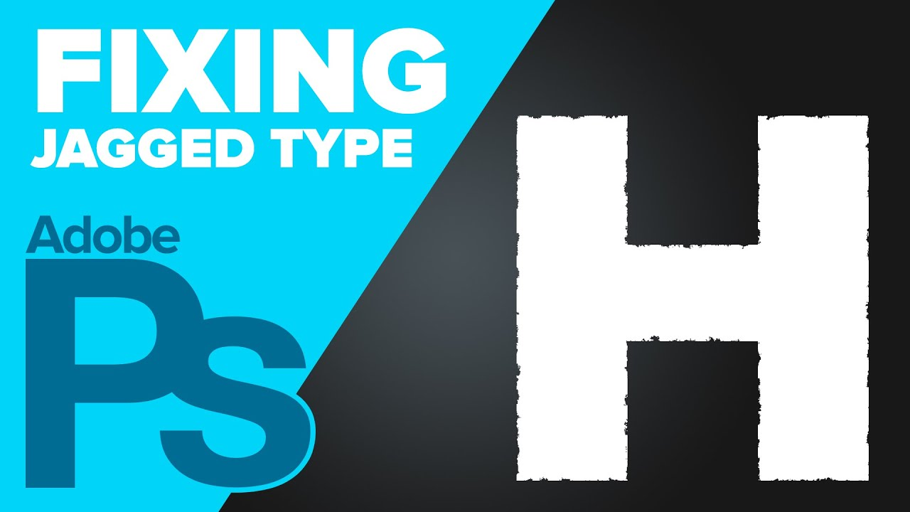 How To Fix Jagged Text In Photoshop Youtube