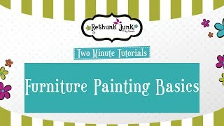 Smooth, No Brushstroke Finish on Painted Furniture - Two Minute Tutorial