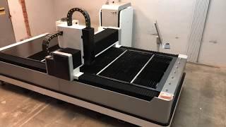 Установка станка лазерной резки ЛМ3015-ЛС