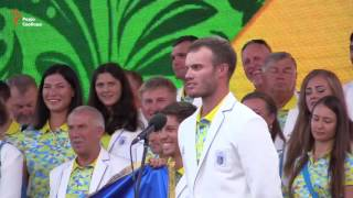 На проводах сборной Украины в Рио Гройсман спас речь спортсмена