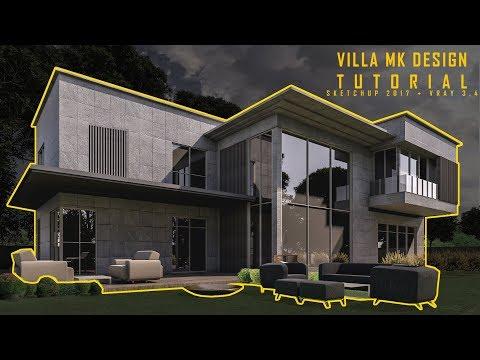 Villa MK Design: Modeling, Materials & Landscape
