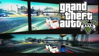 Triple Monitor GTA 5 PC Gameplay 5760x1080, GTX 980 SLI, 3x Asus 144hz Gaming Setup