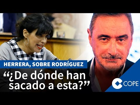Teresa Rodríguez insulta a Abascal y Herrera se enfada
