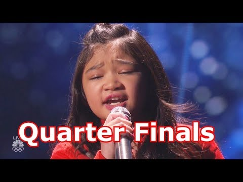 Angelica Hale Sings Clarity Hits Insane High Notes w Judges Comments America's Got Talent 2017 Live