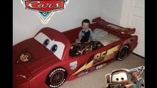 Xman Gets A New Lightning Mcqueen Race Car Bed For His Birthday