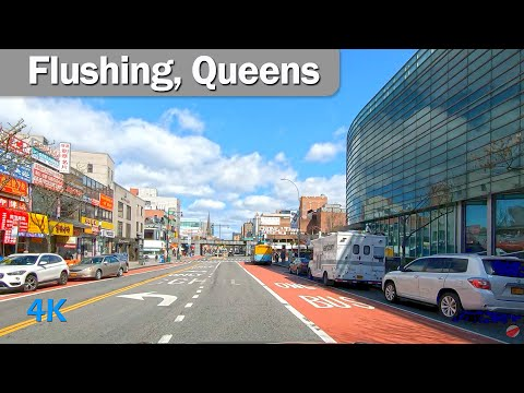 Driving by Flushing Queens NYC