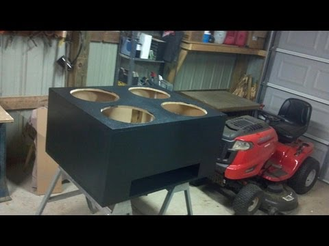 "4 15"" kickers, Subwoofer box Time lapse"
