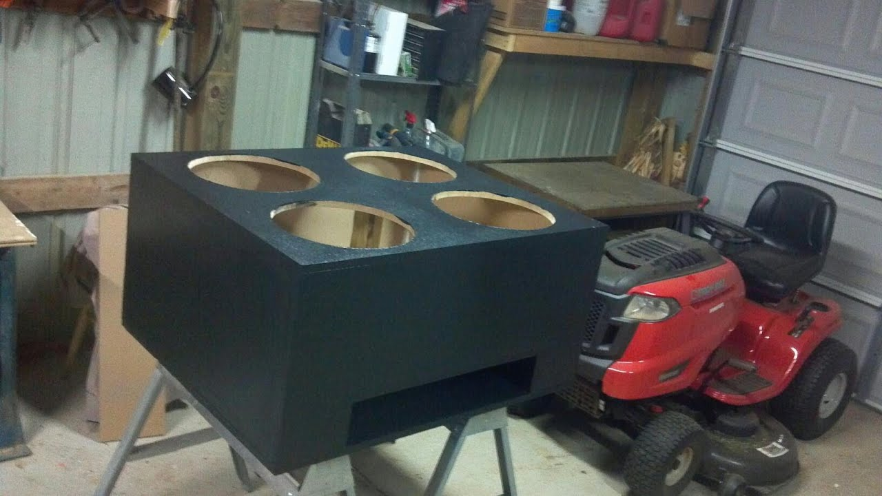 4 15 Quot Kickers Subwoofer Box Time Lapse Youtube