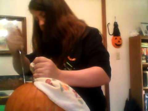 How to Clean a Pumpkin then roast the pumpkin seeds