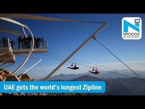 World's Longest ZIP Line In UAE | Watch The Video Now | NYOOOZ TV