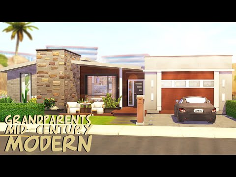 GRANDPARENTS' MID-CENTURY MODERN 👵🏻 | The Sims 4: Speed Build