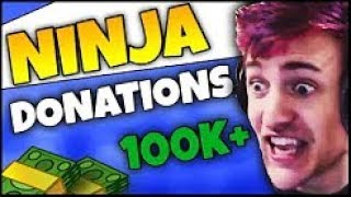 NINJA GOT DONATED 100K FORTNITE FUNNY MOMENTS NINJA BEST MOMENTS+FAILS( GETS EMOTIONAL)