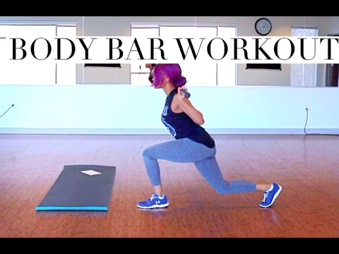 body bar workout for women  lose weight  burn fat  how