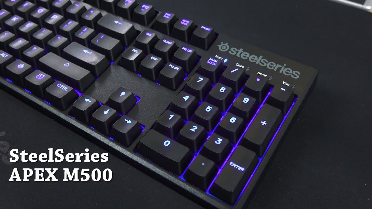 47c5f25e28d SteelSeries APEX M500 Cherry MX Red Mechanical Keyboard Review - YouTube