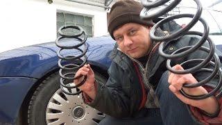 Меняем пацанские пружины на сток Audi a3 8L