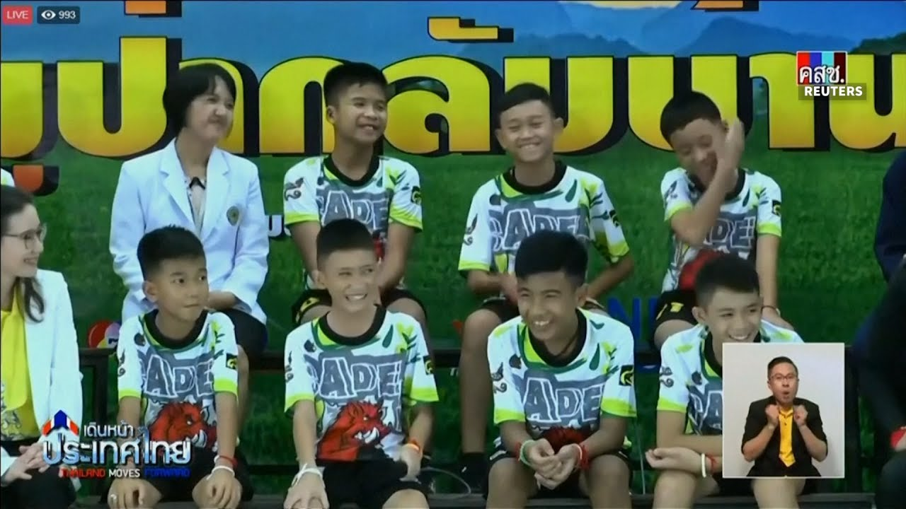 Thai cave survivors recount ordeal in first public appearance