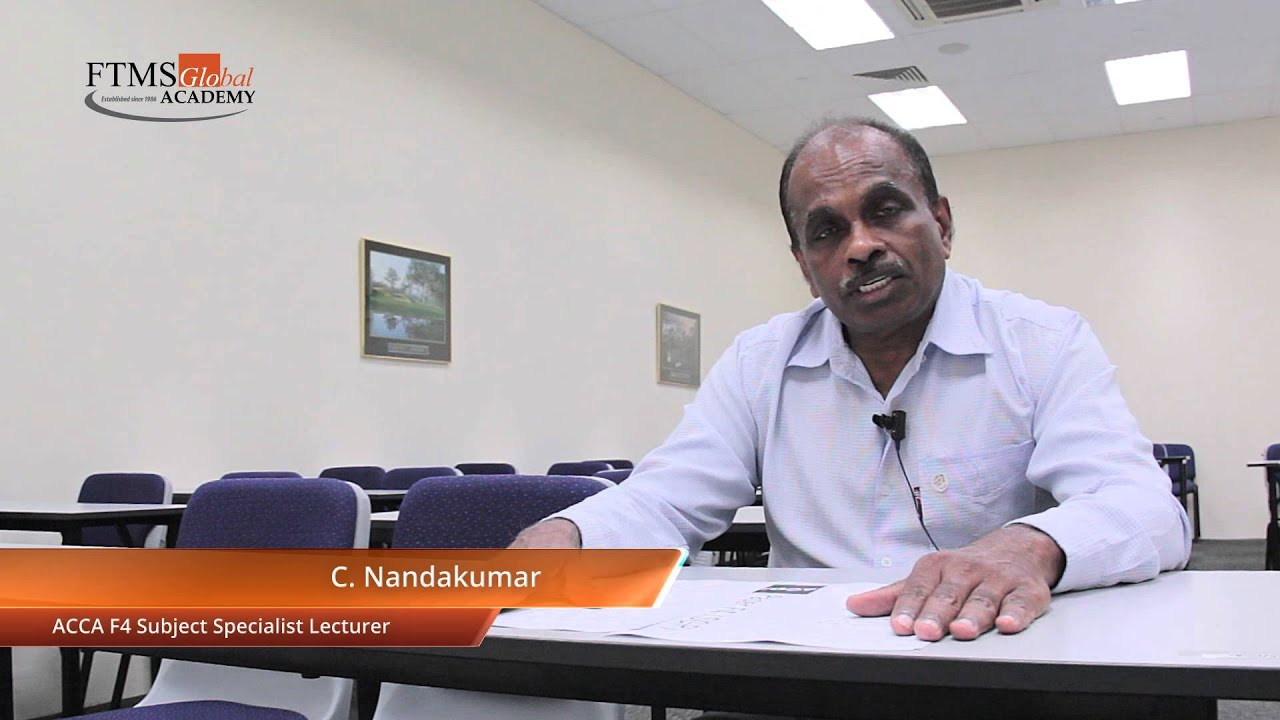 ACCA F4 Exam Format Changes 2014 by Subject Specialist C Nandakumar