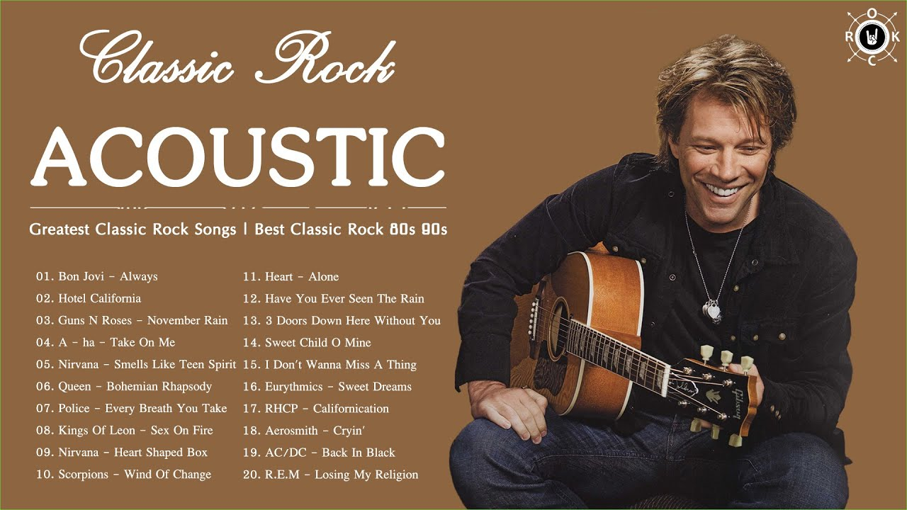 Acoustic Classic Rock | Greatest Classic Rock Songs | Best Classic Rock 80s 90s